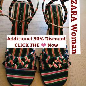 ZARA Woman Striped Heels